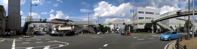 20140916 九条油小路の歩道橋(2014_0916_125743_stitch)