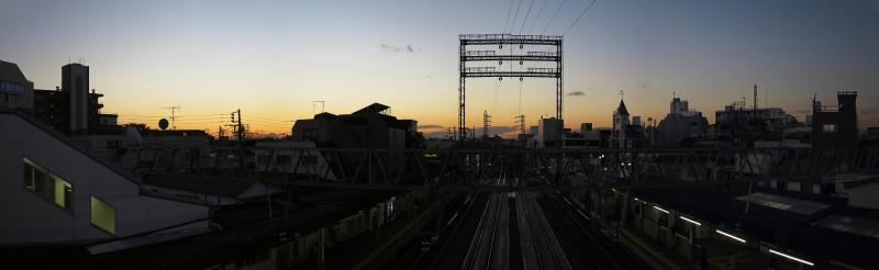 007_4 20151128 沼袋駅より富士山(2015_1128_163642_stitch)