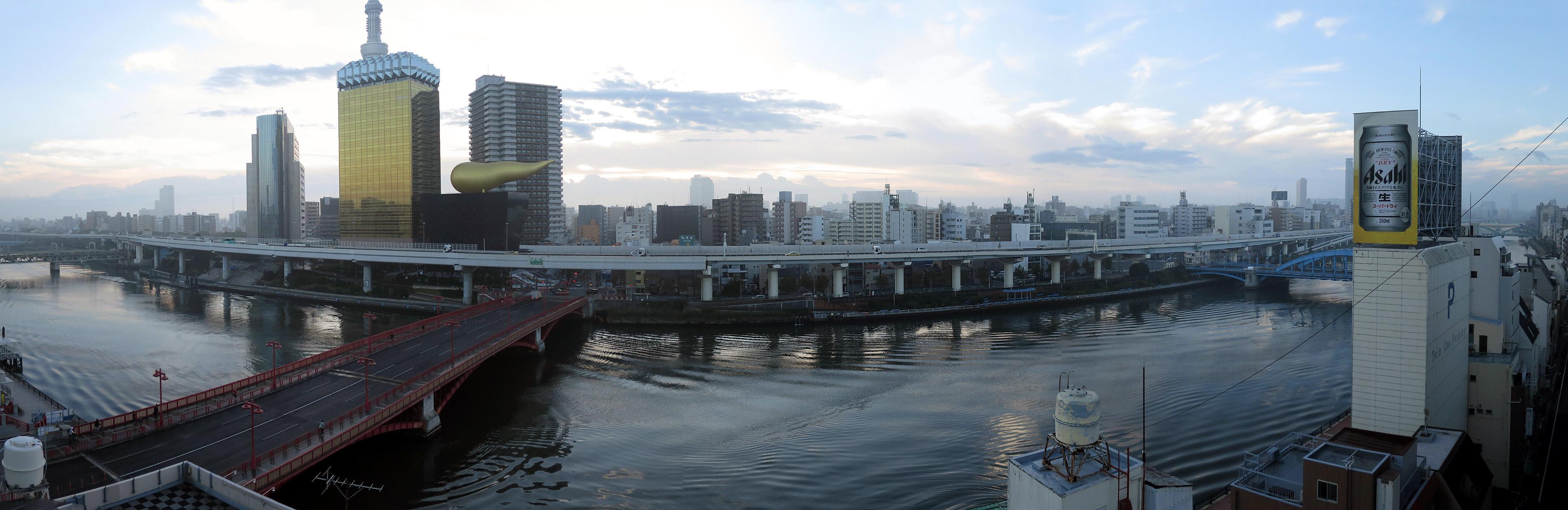073_1 ホテルニュー魚眠荘の展望風呂からの眺め 台東区雷門2-20-4(2015_1103_063315_stitch)