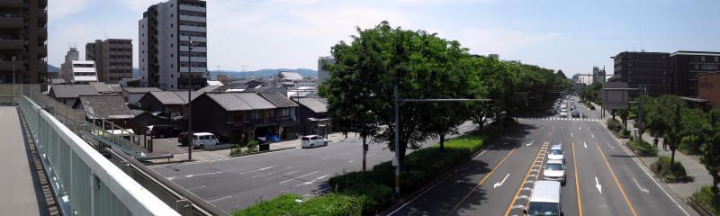 20160514_02 醒泉横断歩道橋(堀川五条)(2016_0514_112224_stitch)