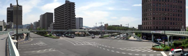 20160514_06 醒泉横断歩道橋(堀川五条)(2016_0514_111835_stitch)