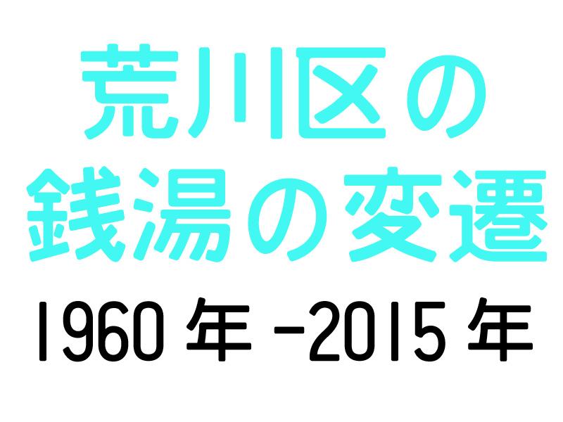 荒川区の銭湯の変遷 1960-2015