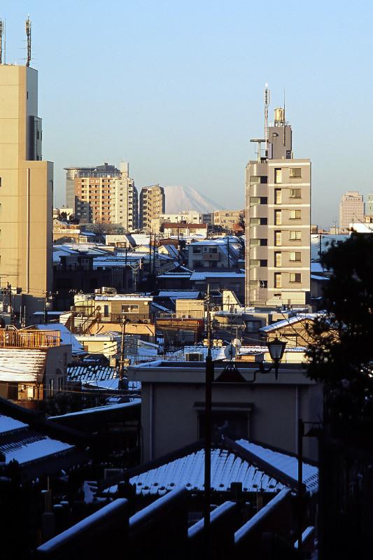 012 20080204 富士見坂(日暮里)より富士山(08.06.18)
