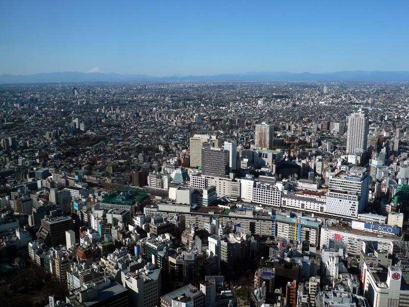 013 20081231 サンシャイン60の屋上展望台より富士山(2008_1231_105015)