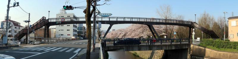 20170414_5 天神川、西万寿寺歩道橋(2017_0414_163214_stitch)