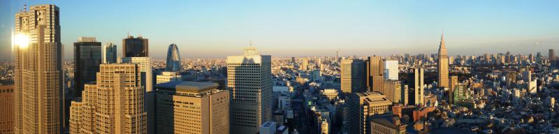 016_2 「パークハイアット東京」41階「ピーク ラウンジ」のパノラマ(2013_0101_161424_stitch)