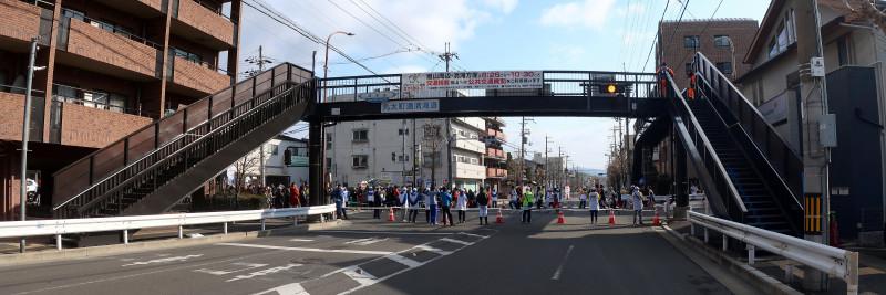 20180218_3 丸太町通清滝道、嵯峨歩道橋(2018_0218_093010_stitch)